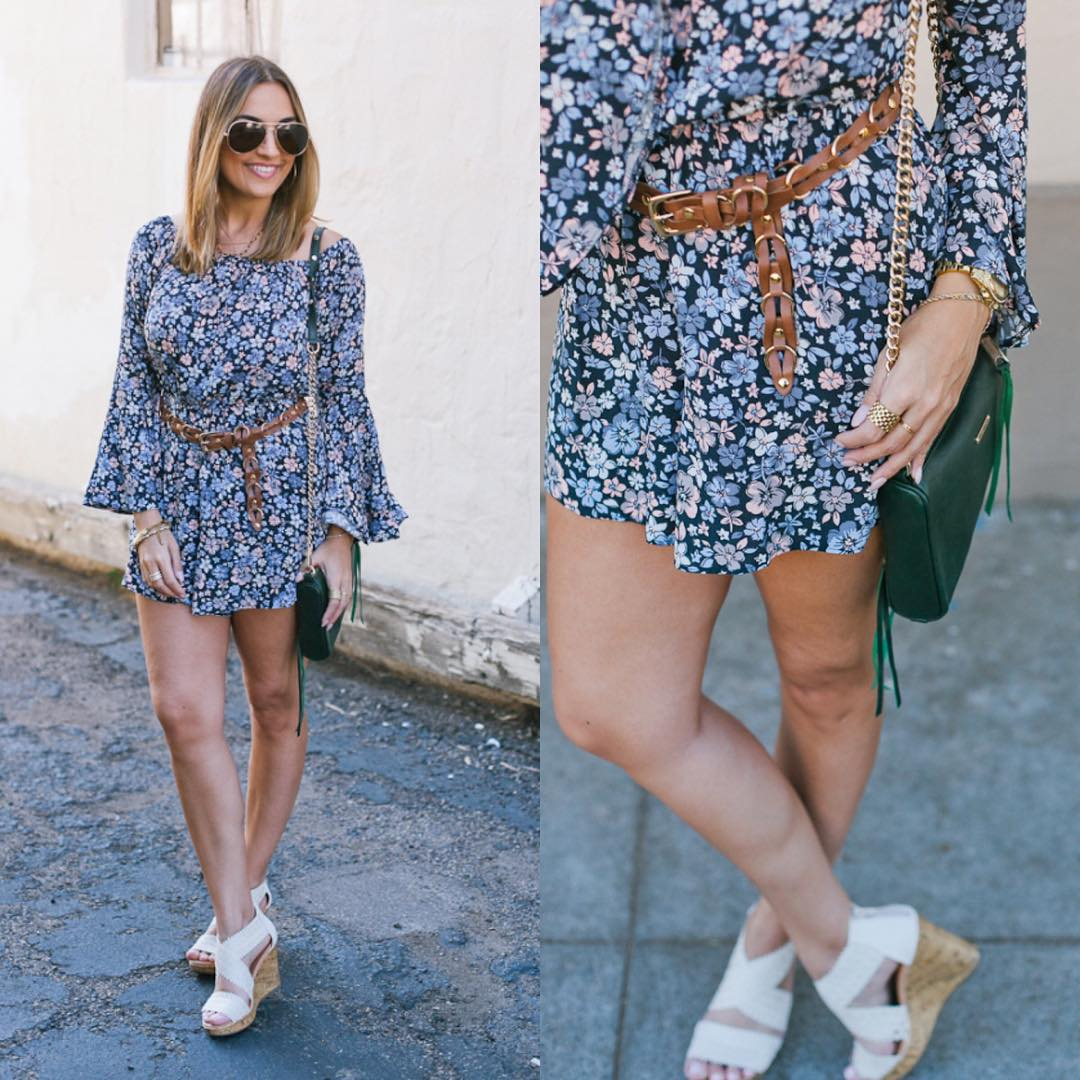 Bringing back that 70s vibe in this floral romper onhellip