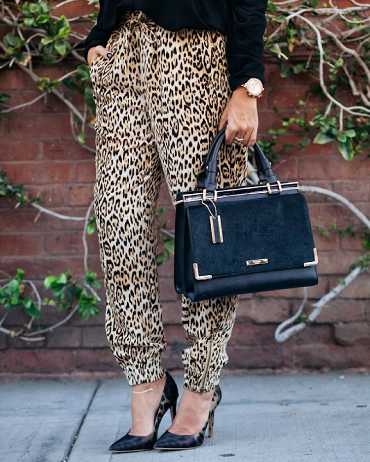 This leopard jogger and fab bag on the blog todayhellip