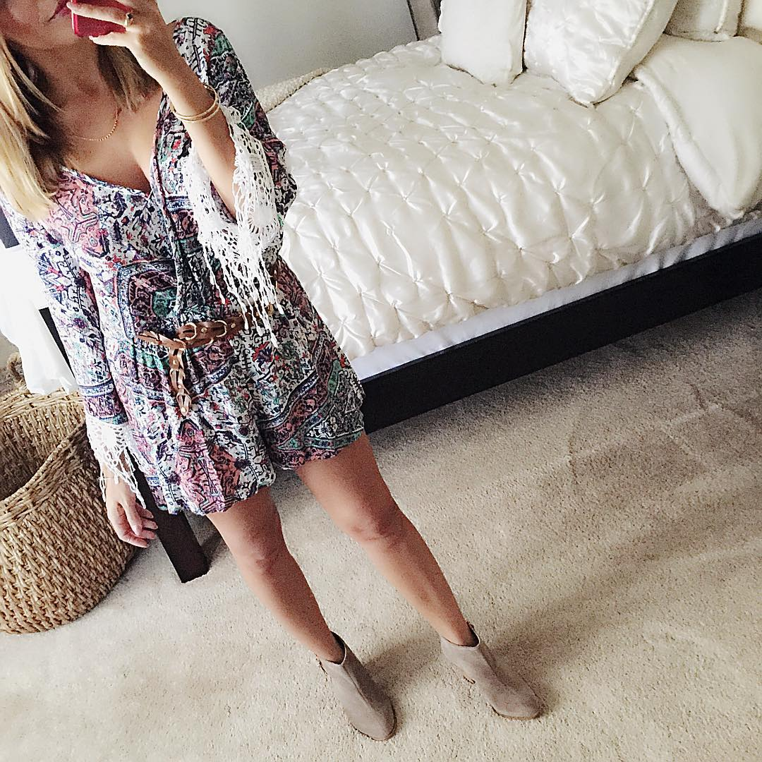 The cutest stinkin romper that ever was Heading out ootdhellip