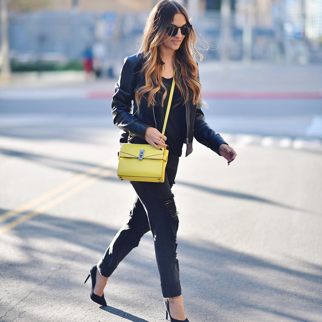 All black n a pop of yellow liketoknowit wwwliketkit29yRN liketkithellip